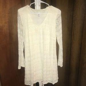 Forever 21 Bell Sleeve Crochet Dress